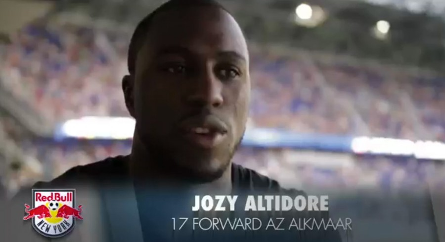 LIVING LEGEND: ALTIDORE VISITS OLD CLUB AT RED BULL ARENA