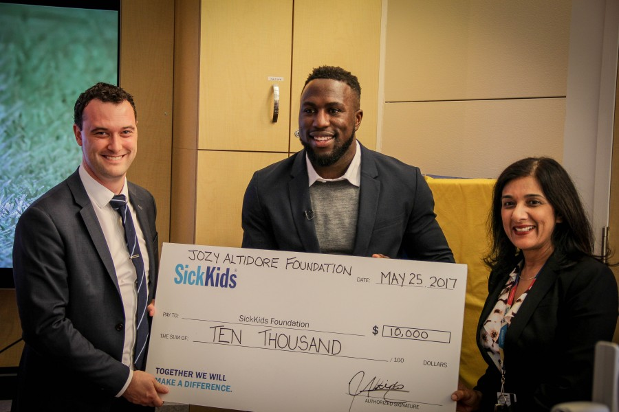 ALTIDORE FOUNDATION MAKES DONATION TO TORONTO HOSPITAL FOR HUGE PROJECT